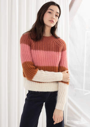 And other stories Pastel Striped Wool Blend Sweater