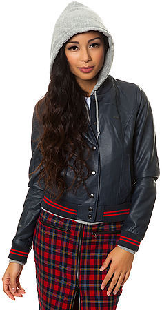 Obey The Varsity Lover Jacket in Navy