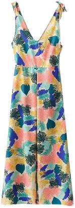 Goodnight Macaroon 'Persia' Tropical Print Tied Shoulder Strap Jumpsuit
