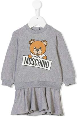 Moschino Kids Teddy logo print sweatshirt dress