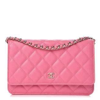 Chanel Caviar Wallet On Chain Caviar WOC Pink