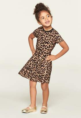 Milly Minis MillyMilly Textured Cheetah Flare Dress