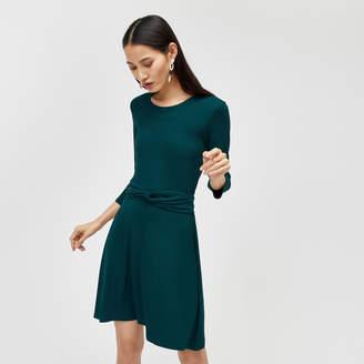 Warehouse Long Sleeve Twist Belt Dress