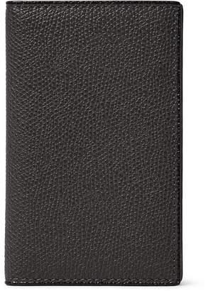 Valextra Pebble-Grain Leather Bifold Cardholder