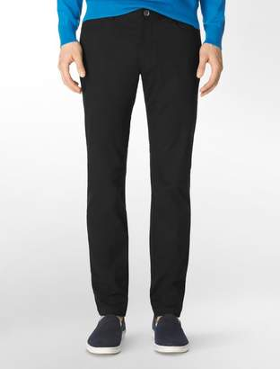 Calvin Klein slim fit 4-pocket sateen pants