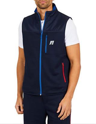 Nautica Logo Zip-Front Vest
