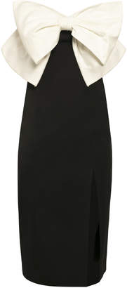Anna October Galina Bow-Detailed Cotton-Faille Midi Dress Size: L