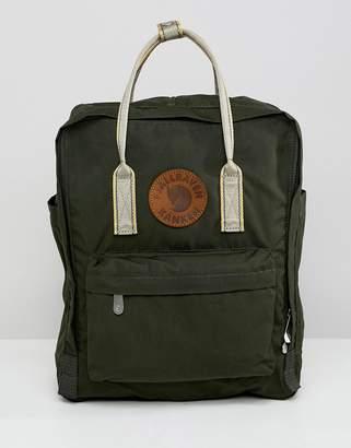 Fjallraven Kanken backpack with leather badge & contrast straps 16l