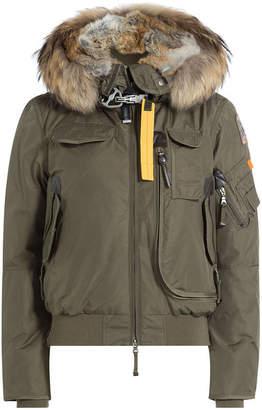Parajumpers Gobi Down Bomber Jacket with Fur Trimmed Hood
