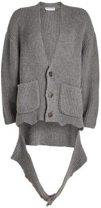 Balenciaga Deconstructed Cashmere Cardigan