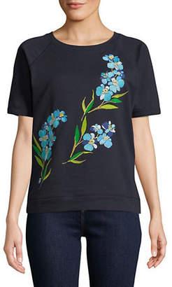 Tommy Hilfiger Floral Embroidered Sweatshirt Tee