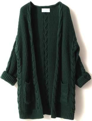 e3d644c12e14 LONGMING Women s Cashmere Long Sleeve Open Front Oversized Winter Cardigan  Sweater ...