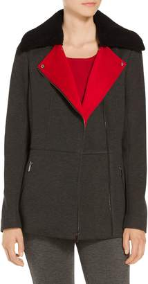 St. John Doubleface Melange Scuba Jacket