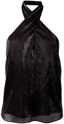 Rosetta Getty wrap neck halter top