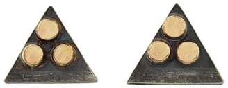 Melissa Joy Manning Triangle Stud Earrings