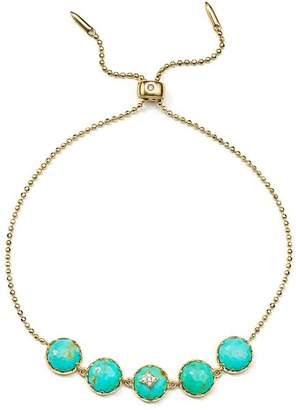 Nadri Sterling Silver, Cubic Zircona & Turquoise Birdie Bracelet
