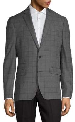 Kenneth Cole Reaction Windowpane Suit Jacket