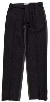 Dolce & Gabbana Two-Tone Zip-Accented Wool Dress Pants