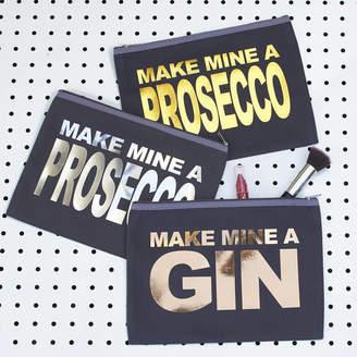 Catherine Colebrook Make Mine A Gin/Prosecco Clutch/Make Up Bag