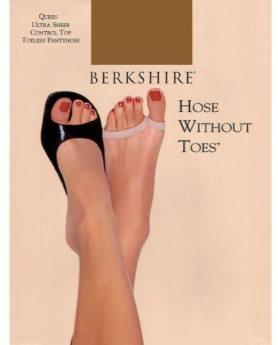 Berkshire Women's Plus-Size Queen Hose Without Toes Control Top Pantyhose 5111