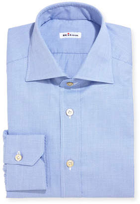 Kiton Twill Cotton Dress Shirt
