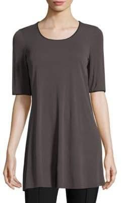 Eileen Fisher Silk Scoop Neck Tunic