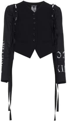 Ann Demeulemeester Waistcoat Open Back Jacket