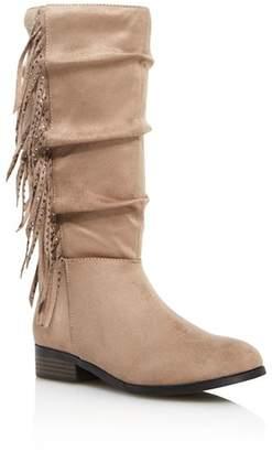 Steve Madden Girls' JFringely Slouch Boots - Little Kid, Big Kid