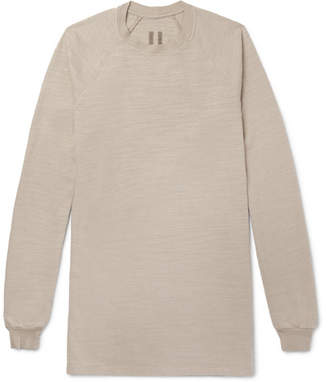 Rick Owens Oversized Slub Cotton-Jersey Sweater