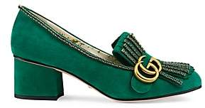 Gucci Women's Marmont Suede Pumps - Green
