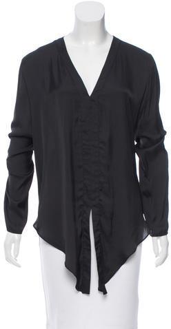 AlexisAlexis Long Sleeve V-Neck Blouse