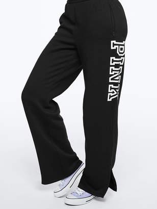 PINK Open Leg Fleece Track Pant