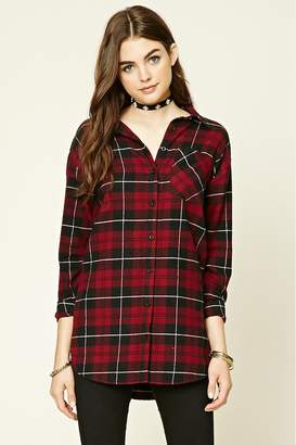 Forever 21 I Heart You Plaid Shirt