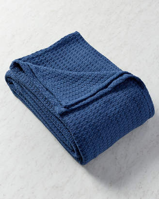 Elite Navy Cotton Thermal Blanket