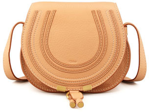 Chloé Marcie Small Satchel Bag, Rose Milk