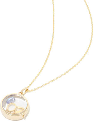 Loquet 14K Medium Round Locket & Gold Chain