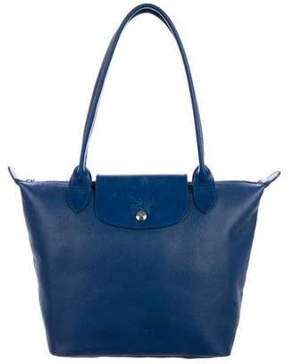 Longchamp Grained Leather Le Pilage Tote
