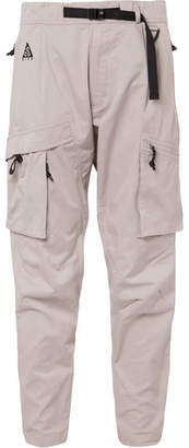 Nike Acg Tapered Cotton-blend Cargo Trousers - Beige