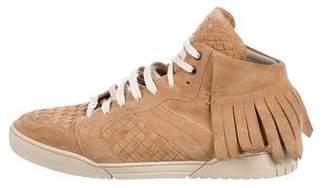 Bottega Veneta Fringe Suede Sneakers