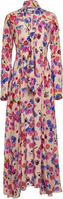 Natasha Zinko Printed Silk Maxi Dress