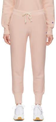 Champion Reverse Weave Pink Rib Cuff Lounge Pants