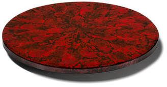 Mother of Pearl LADORADA Revolving Tray, Red