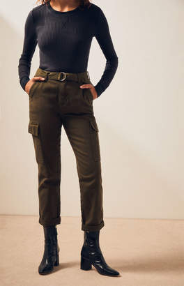 PacSun Cadet Green Utility Mom Jeans