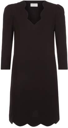 Claudie Pierlot V-Neck Scalloped Dress
