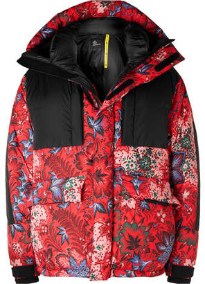 Moncler Genius 3 Girdwood Floral-Print Quilted Hooded Down Ski Jacket