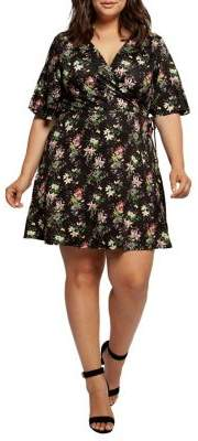 Dex Plus Floral Wrap Dress