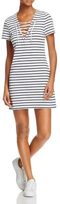 Bardot Stripe Lace-Up Dress $69 thestylecure.com