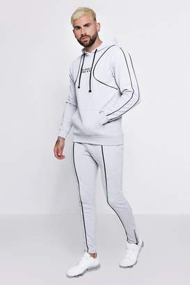 boohoo Original MAN Hooded Tracksuit With Piping