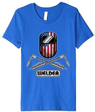Welder T-Shirt American Flag Welding Mask