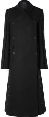 Rokh - Button-embellished Double-breasted Wool-blend Coat - Navy